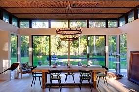 现代自然宜人的别墅餐厅装修效果图