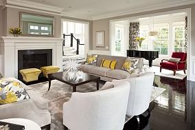 面积118平复式客厅混搭装饰图片