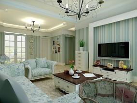 热门96平客厅三居混搭装修效果图片欣赏