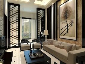 2018面积131平复式客厅混搭装饰图片欣赏