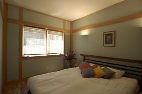 日式风格简约古朴的二居室卧室装修效果图