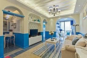客厅满假梁吊顶精选电视墙简单造型设计