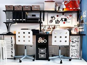青春动感的书房装修效果图大全2014图片