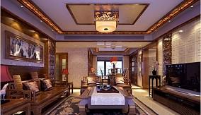 两房一厅中式古典客厅装修效果图大全2014图片