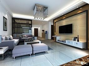 2018精选132平米四居客厅混搭装饰图