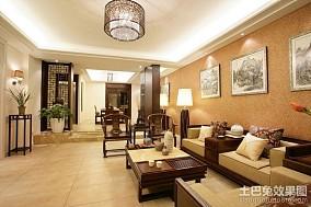 中式内蕴的客厅装修效果图大全2014图片
