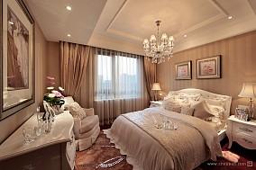 少女卧室床头背景墙装修效果图片家装装修案例效果图