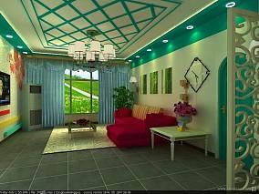 面积73平小户型客厅混搭装修效果图片欣赏