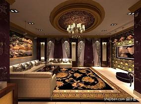 客厅仿古瓷砖效果图