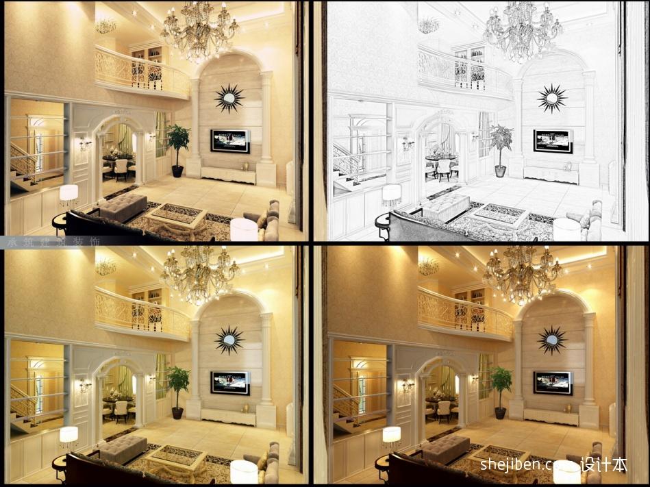 优雅513平混搭别墅客厅案例图客厅潮流混搭客厅设计图片赏析
