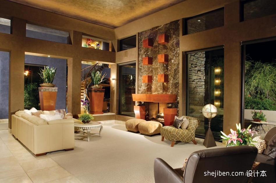 华丽329平混搭别墅客厅装饰美图客厅潮流混搭客厅设计图片赏析