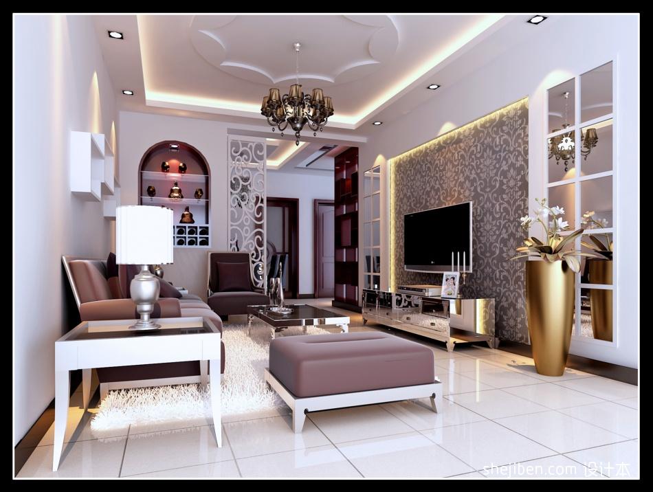 精美83平方二居客厅混搭装修实景图片大全客厅潮流混搭客厅设计图片赏析