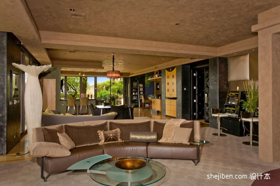 典雅520平混搭别墅客厅美图客厅潮流混搭客厅设计图片赏析