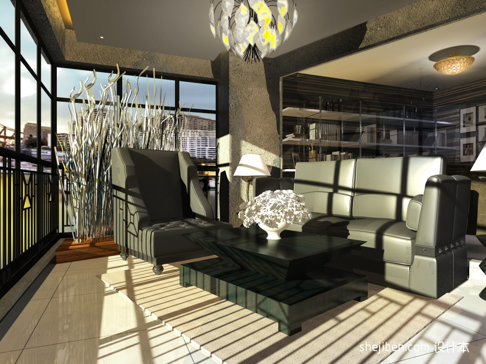 华丽72平混搭复式客厅案例图客厅潮流混搭客厅设计图片赏析