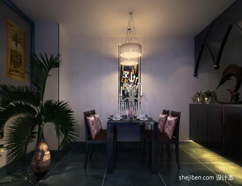 明亮347平混搭样板间餐厅效果图欣赏厨房潮流混搭餐厅设计图片赏析