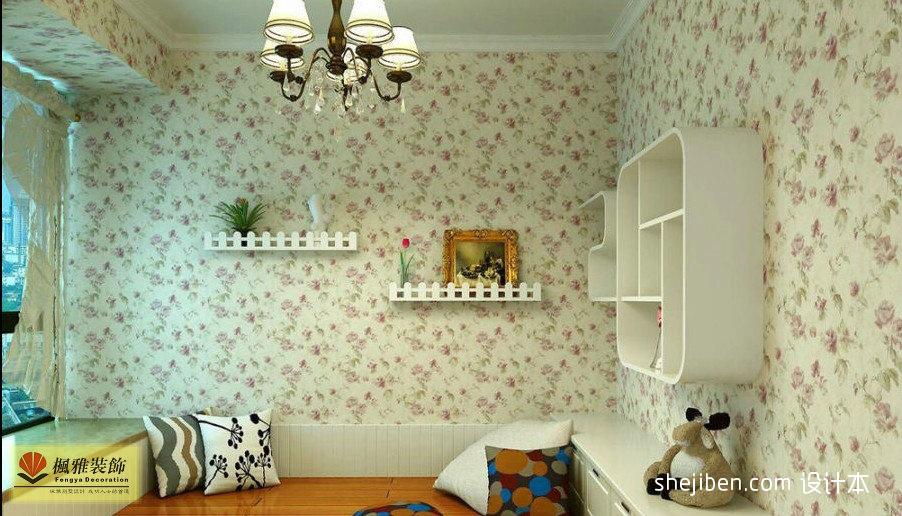 优雅66平混搭二居儿童房图片大全卧室潮流混搭卧室设计图片赏析