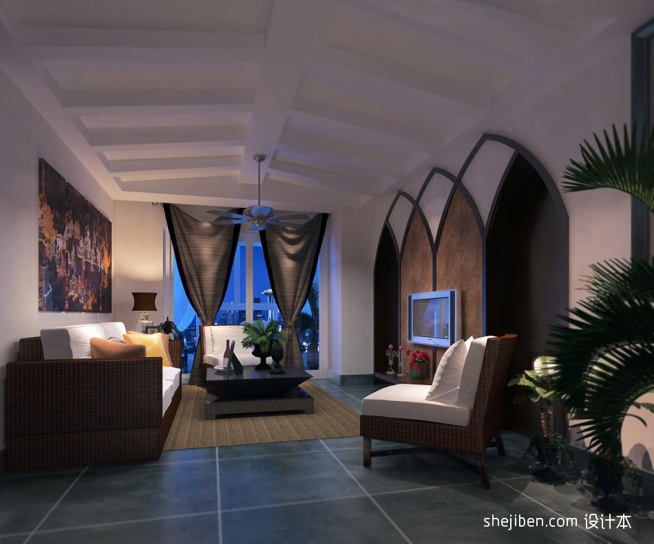 温馨291平混搭样板间客厅效果图欣赏客厅潮流混搭客厅设计图片赏析