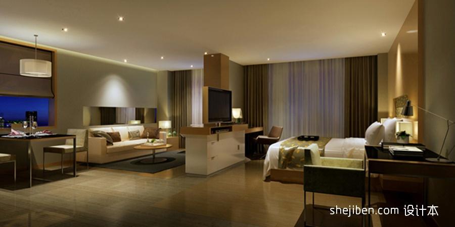 商务酒店客房家具效果图酒店空间设计图片赏析