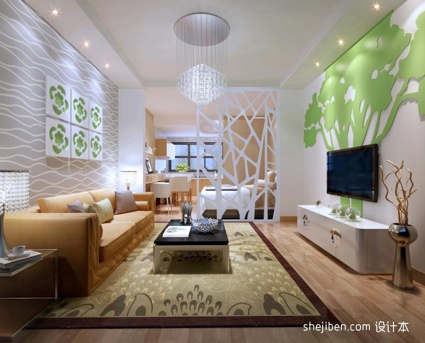 热门90平二居混搭装修实景图片客厅潮流混搭客厅设计图片赏析