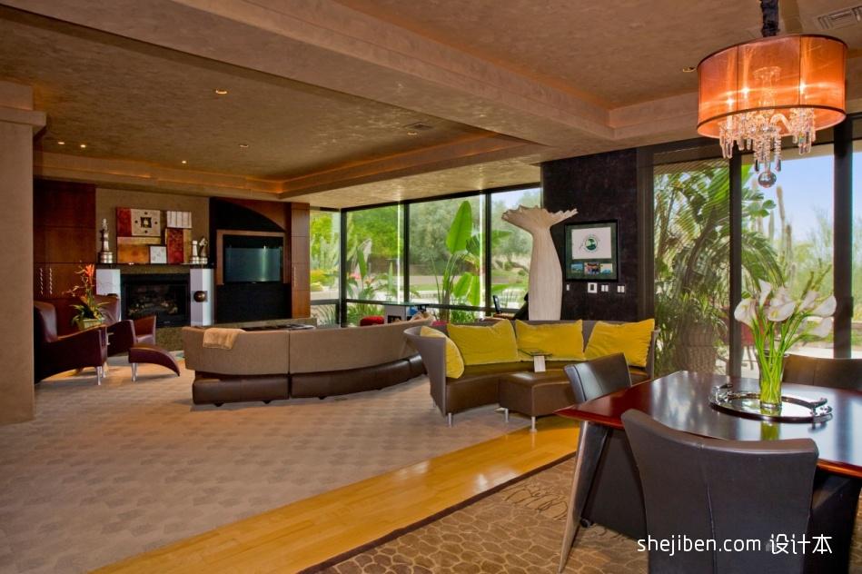 典雅759平混搭别墅客厅设计美图客厅潮流混搭客厅设计图片赏析