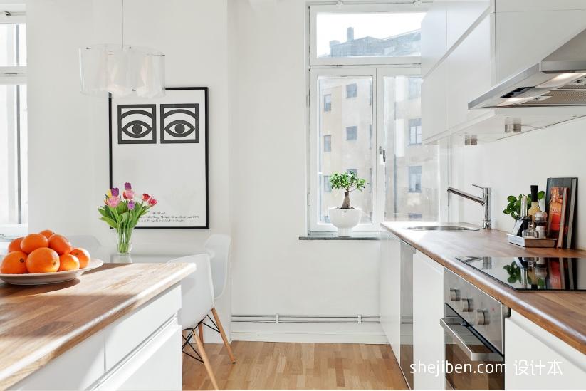 2018精选面积77平小户型厨房简约装修实景图片大全餐厅现代简约厨房设计图片赏析