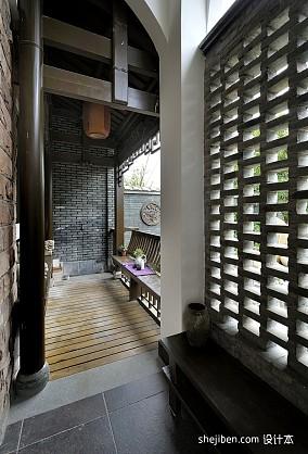 热门面积73平小户型阳台中式装饰图片欣赏