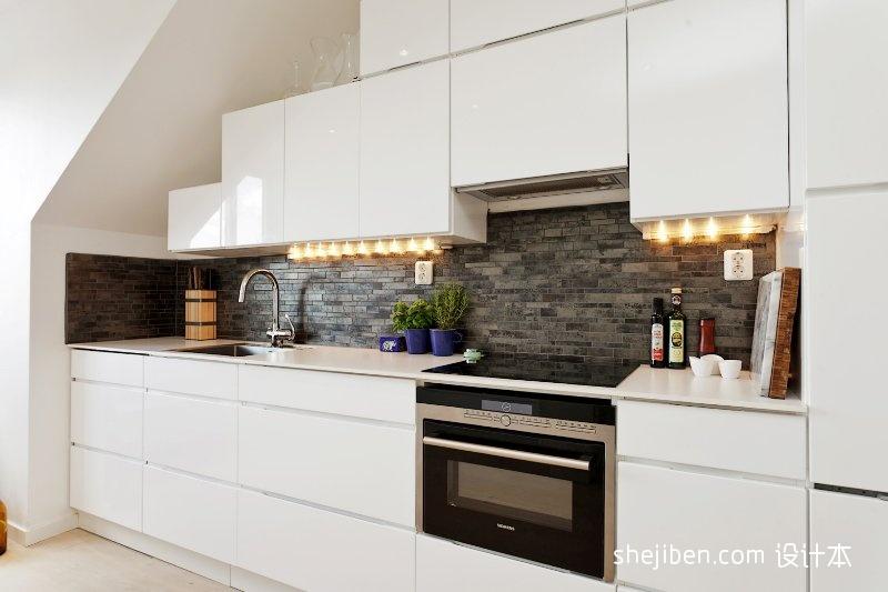 悠雅59平混搭二居厨房装修装饰图餐厅潮流混搭厨房设计图片赏析