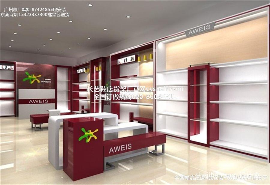 鞋店货柜厂最新鞋店货架图片商业展示其他设计图片赏析