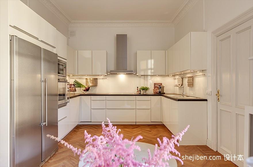 精美155平混搭四居厨房设计案例餐厅潮流混搭厨房设计图片赏析