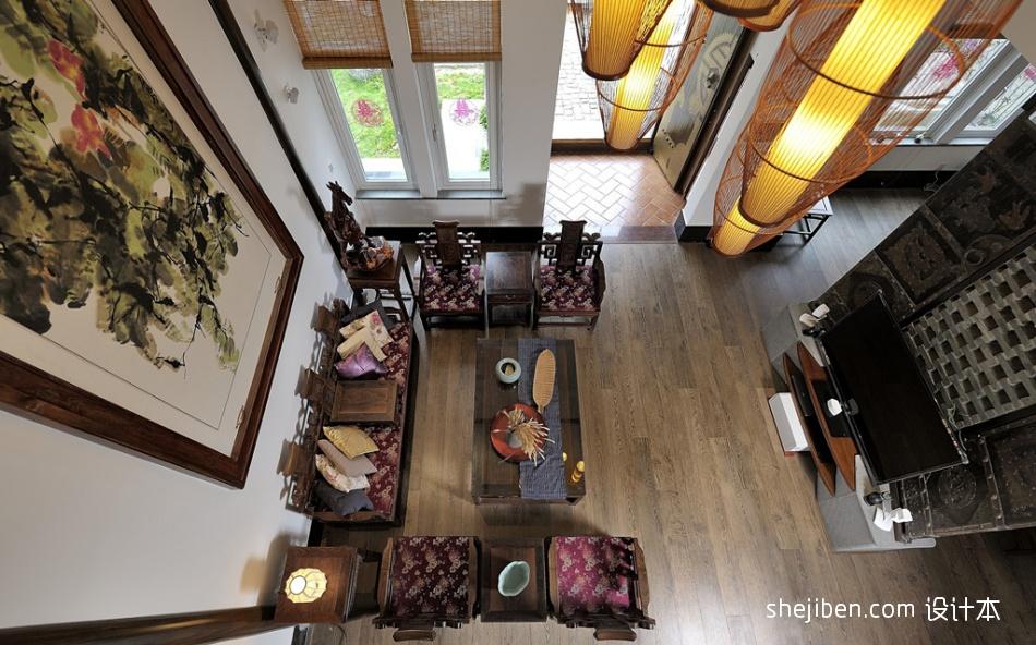 热门中式小户型客厅装修设计效果图客厅中式现代客厅设计图片赏析