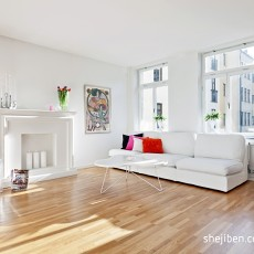 简欧风格40平米木质地板小户型装修