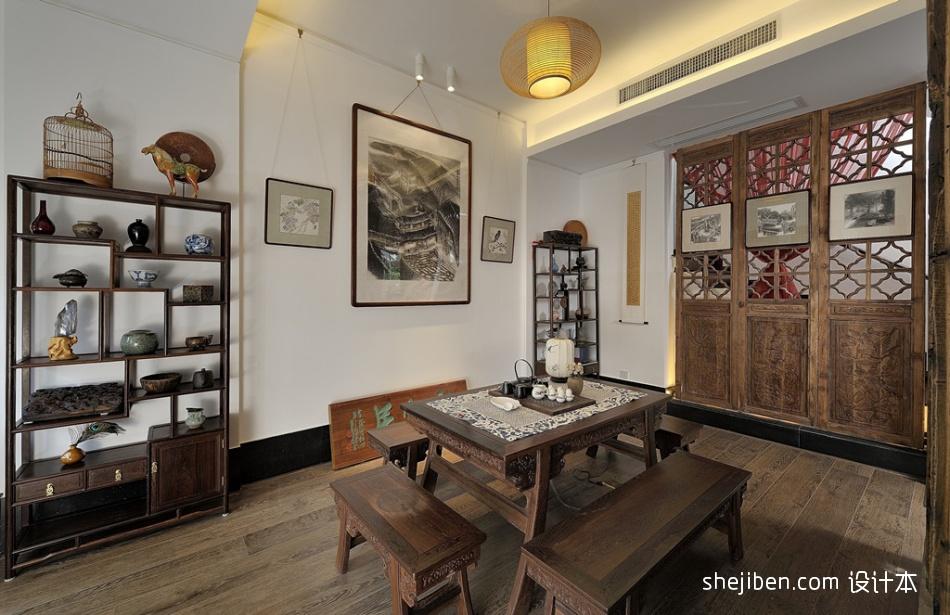 2018精选面积80平小户型餐厅中式装修欣赏图片大全厨房中式现代餐厅设计图片赏析