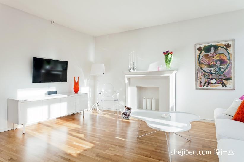 简约5060平米小户型客厅装修效果图功能区现代简约功能区设计图片赏析