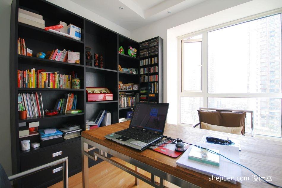 热门面积94平现代三居书房装修设计效果图片功能区现代简约功能区设计图片赏析