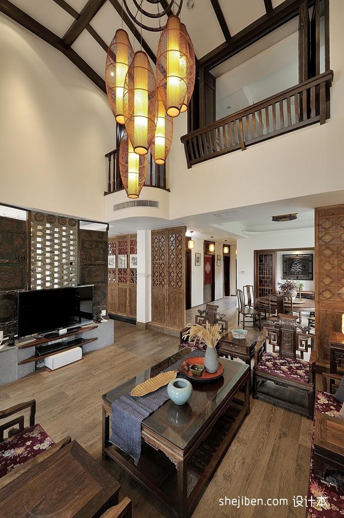 精选75平米中式小户型客厅实景图片客厅中式现代客厅设计图片赏析