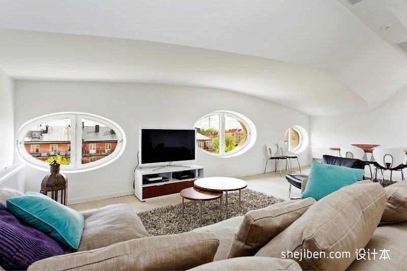 质朴84平混搭二居客厅实景图客厅潮流混搭客厅设计图片赏析
