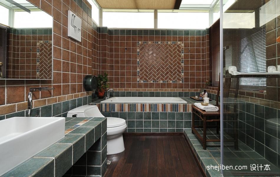 82平米中式小户型卫生间实景图片卫生间中式现代卫生间设计图片赏析