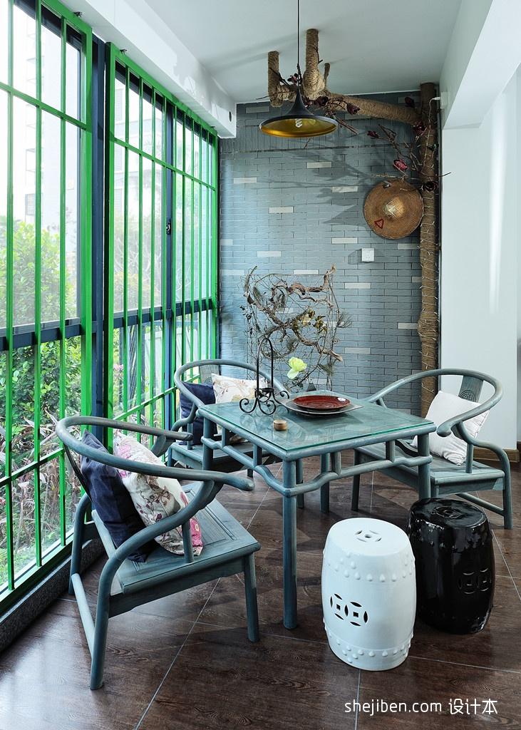 精美现代小户型阳台实景图片欣赏阳台现代简约阳台设计图片赏析