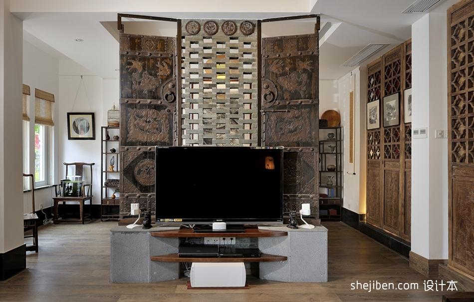 复古风格电视背景墙装修效果图功能区其他功能区设计图片赏析
