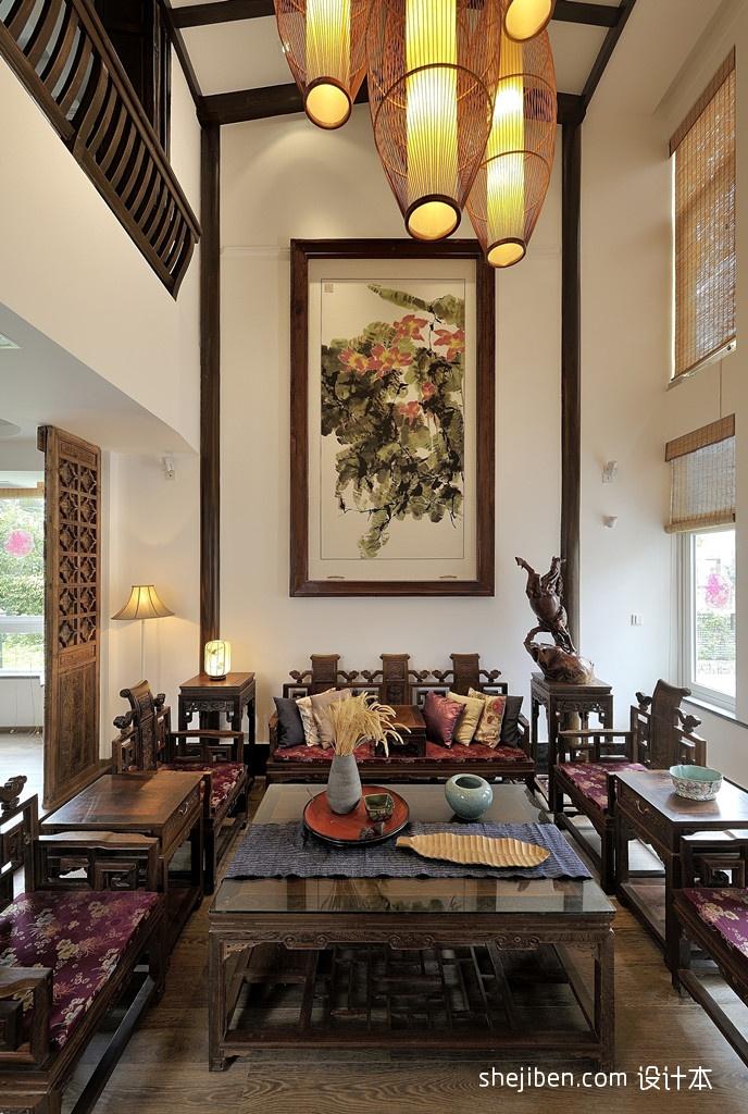 精美小户型客厅中式装饰图客厅中式现代客厅设计图片赏析