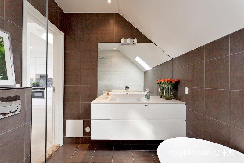 平米二居卫生间混搭装修图片欣赏卫生间潮流混搭卫生间设计图片赏析