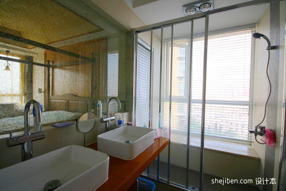 精美99平方三居卫生间现代欣赏图片大全卫生间现代简约卫生间设计图片赏析