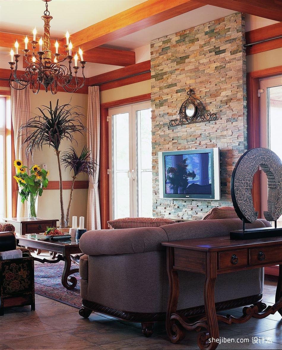 2018精选129平米混搭别墅客厅装修设计效果图片客厅潮流混搭客厅设计图片赏析