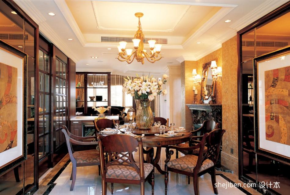 热门121平米混搭别墅餐厅装修设计效果图片厨房潮流混搭餐厅设计图片赏析