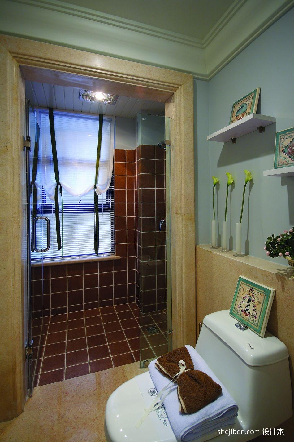 新古典风格别墅主卫生间瓷砖装修效果图片其他设计图片赏析