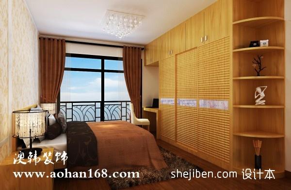 温馨95平混搭三居卧室布置图卧室潮流混搭卧室设计图片赏析