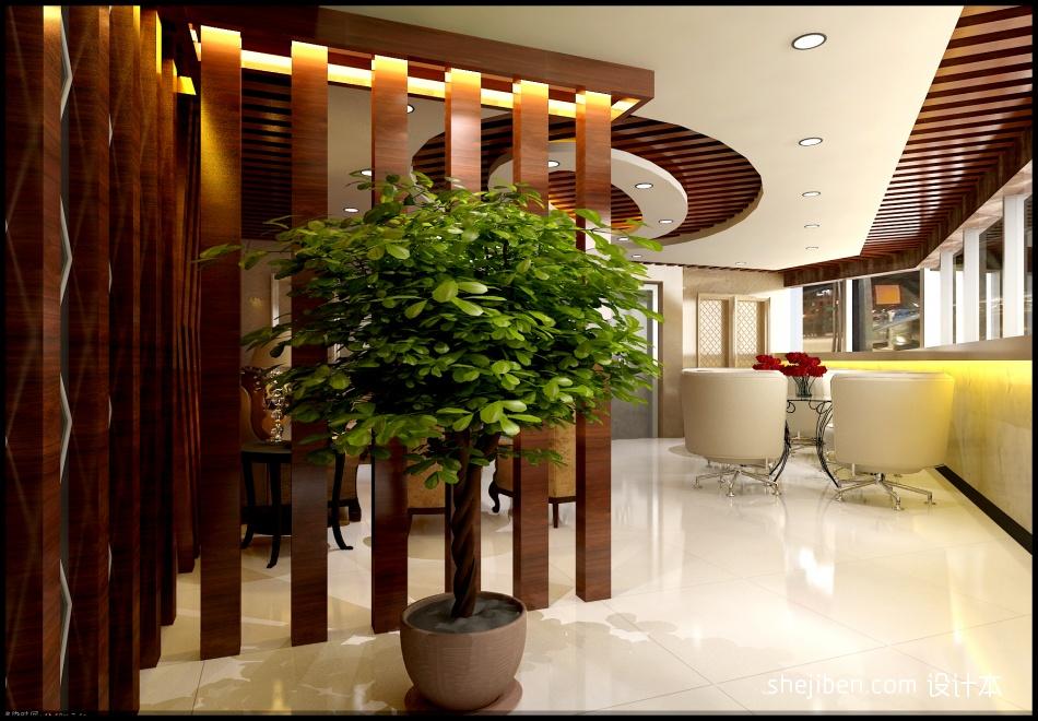 接待厅盆景花盆效果图办公空间其他设计图片赏析