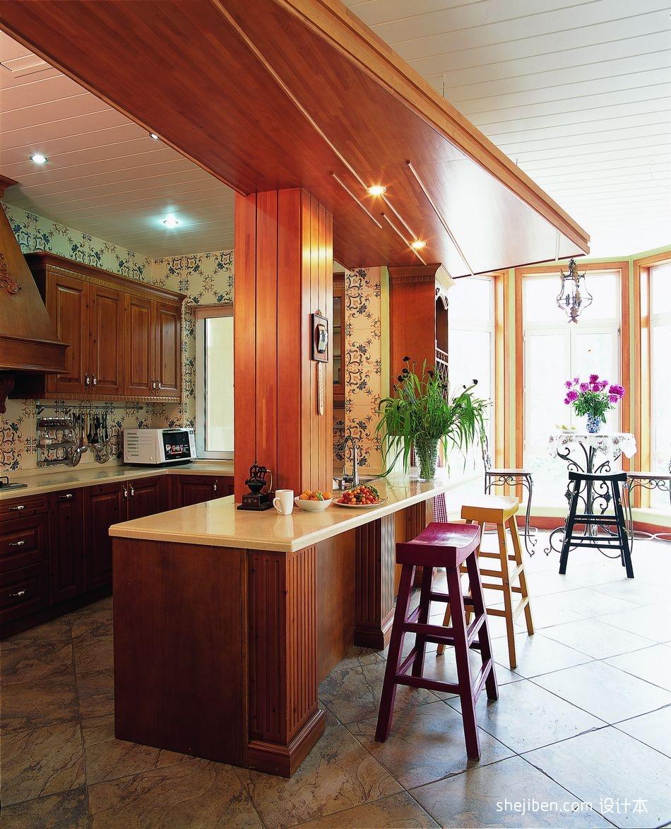 2018精选面积116平别墅厨房混搭装修设计效果图片大全餐厅潮流混搭厨房设计图片赏析