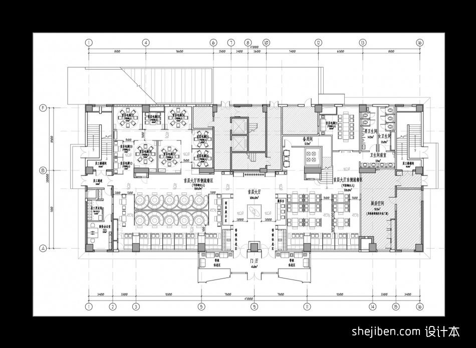 首层方案平面布局餐饮空间其他设计图片赏析
