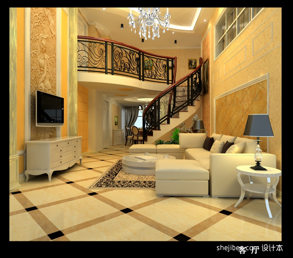 平混搭复式客厅装饰图客厅潮流混搭客厅设计图片赏析